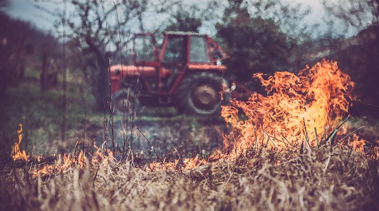 flamethrower tractor