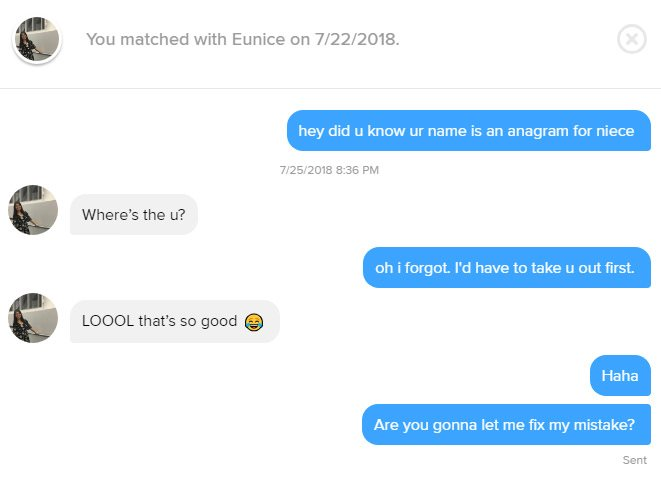The Best Tinder Pick-Up Lines Using Girls Names - Mandatory