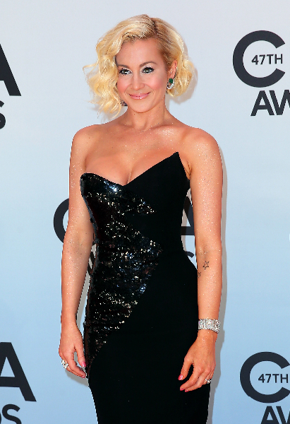 Carrie Underwood on stage during the 47th annual CMA awards at the Bridgestone Arena