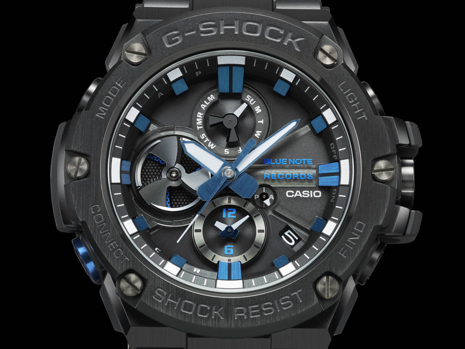Frontal View of G-Shock X Blue Note Records