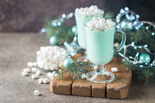 Mint Chocolate Cocoa Float
