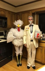 Colonel Sanders and Chicken