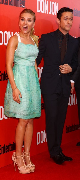 """New York Premiere of """"Don Jon"""" - red carpet arrivals at the """"SVA"""" theater"""