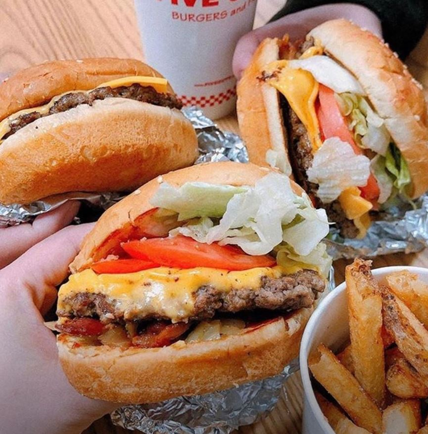 2. Five Guys Cheeseburger