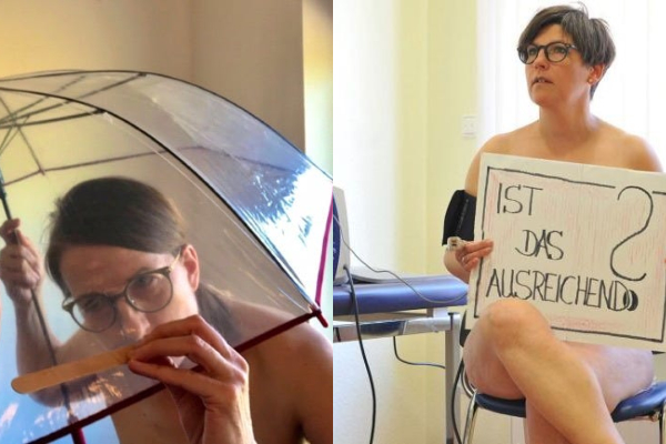 German Health Care Workers Get Naked to Raise Awareness About PPE Shortages (And to Remind Us What Naked Women Not in Porn Look Like)