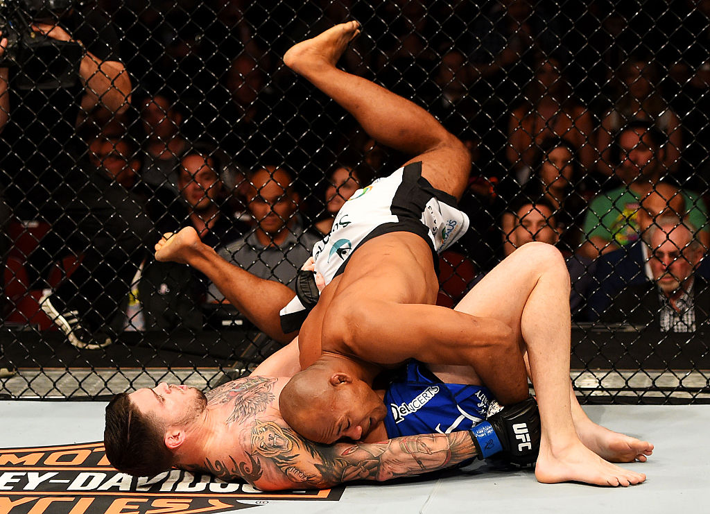 3. Opponents go the mat with him at their own peril.