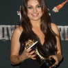Trophy presentations in the Press Room at the 23rd Annual MTV Movie Awards at Nokia Theatre on April 13, 2014 in Los Angeles, California. Featuring: Mila Kunis Where: Los Angeles, California, United States When: 14 Apr 2014 Credit: FayesVision/WENN.com
