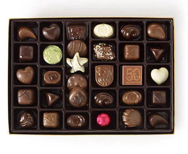 9. Assorted Chocolate Gold Gift Box