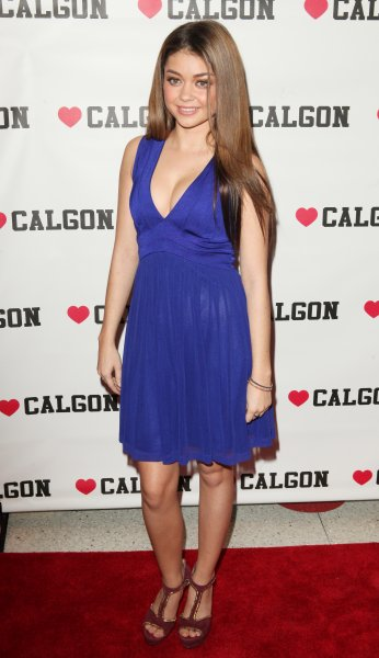 Actress Sarah Hyland attends the unveiling of the new beauty campaign for Heart Calgon at Dylan's Candy Bar Featuring: Sarah Hyland Where: New York , New York , United States When: 09 Apr 2013 Credit: PNP/ WENN.com