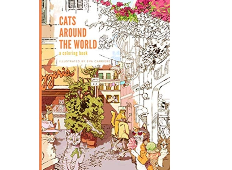 'Cats Around the World: A Coloring Book'