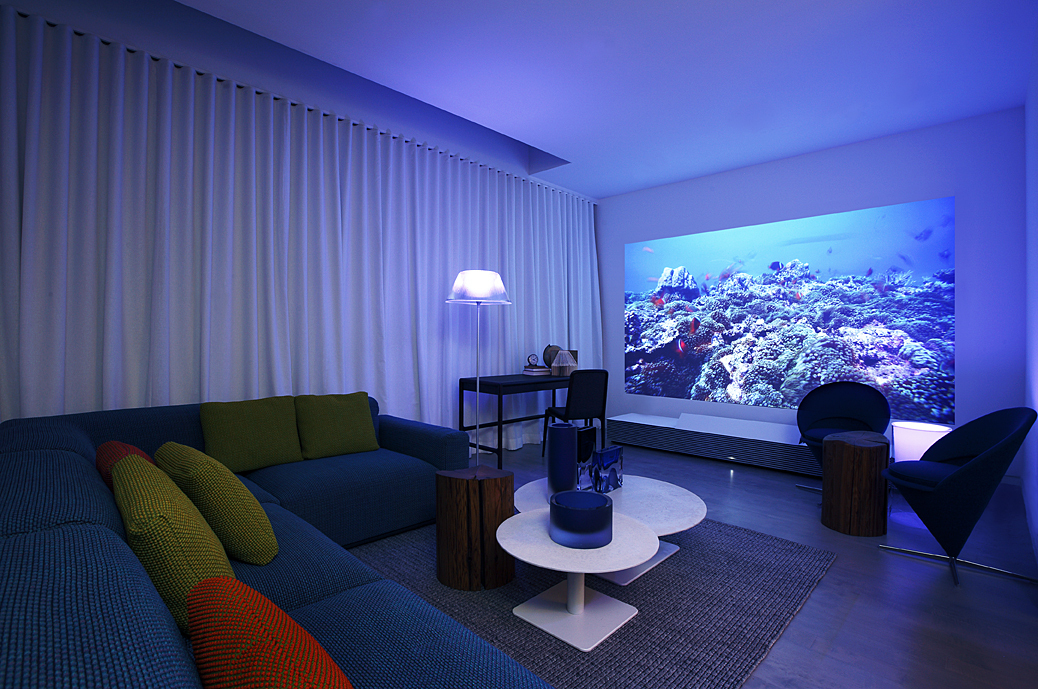 Sony S 147 Inch 4k Laser Projector Turns Your Living Room