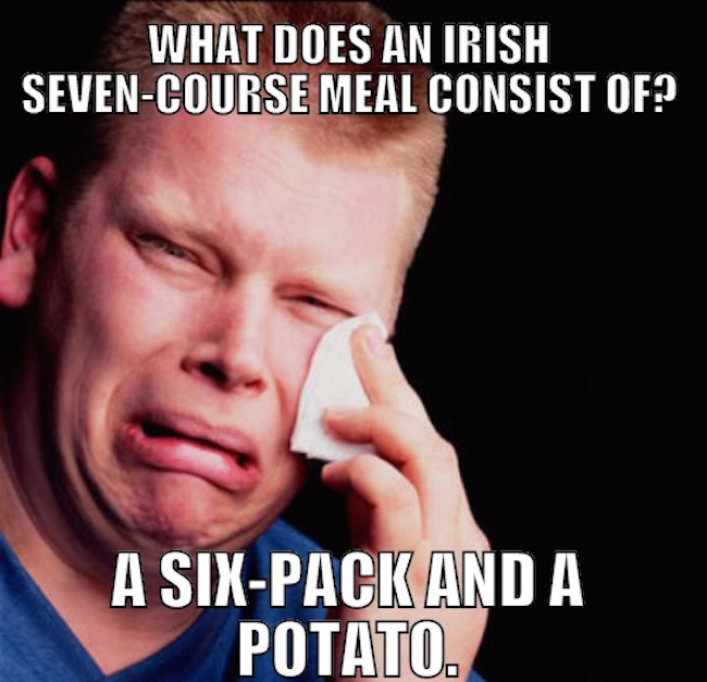 What does an Irish seven course meal consist of?