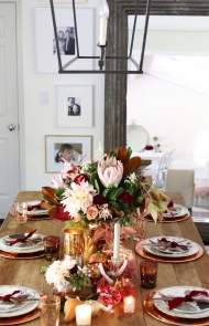 Cranberry Tablescape
