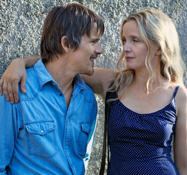 Julie Delpy and Ethan Hawke as Céline and Jesse Wallace