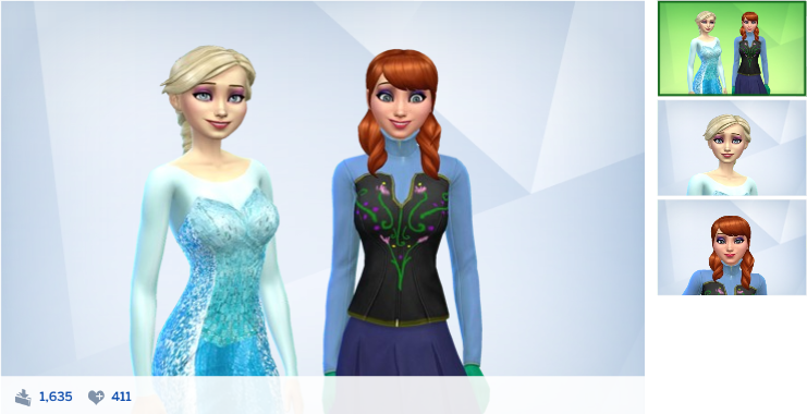 Anna and Elsa (Frozen)