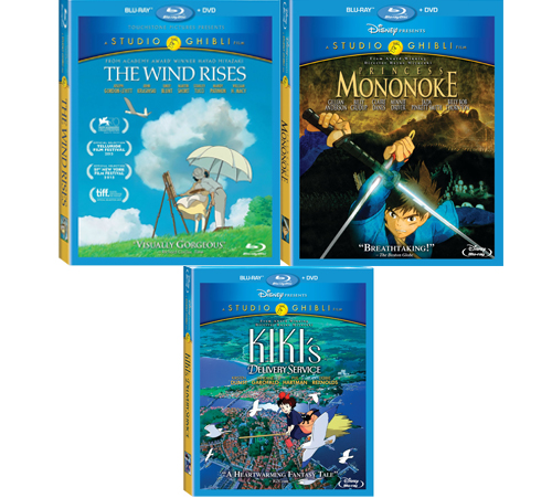 7. The Wind Rises, Kiki's Delivery Service and Princess Mononoke