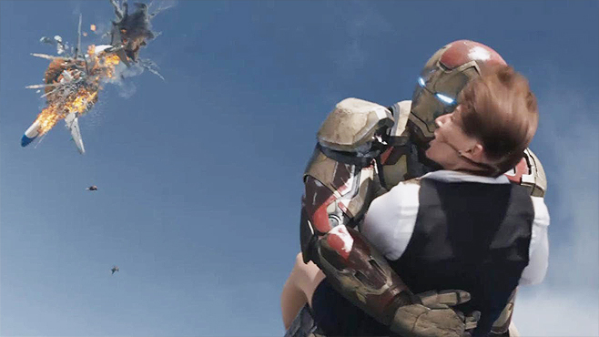 9. The Free Fall Rescue, from Iron Man 3