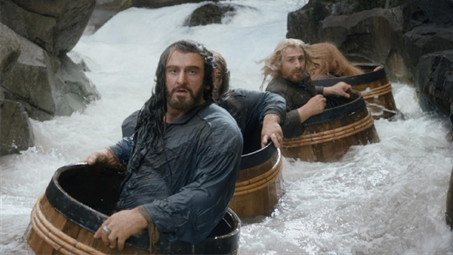 10. The Barrel Ride, from The Hobbit: The Desolation of Smaug