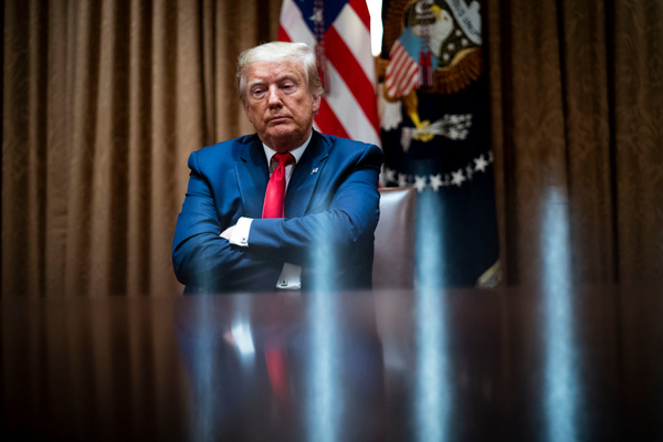 Trump's Terrorist Theory of 75-Year-Old Man Shoved by Police Exhibits New Expert Level of Sociopathic Thinking